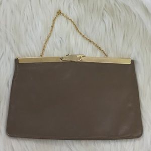 ETRA vintage leather frame bag